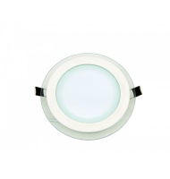 Led Panel 12W Round Glass 1