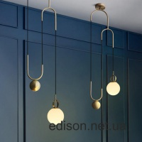 Люстра Cradle Brass mid century pulley pendant light